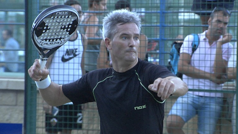 Miguel Lamperti Acclaimed During Training World Padel Tour
