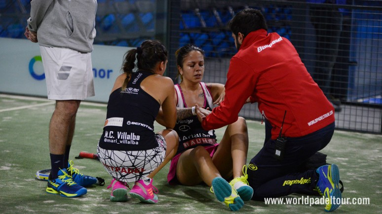 An injury to Alba Galán qualifies the number ones for the semifinals