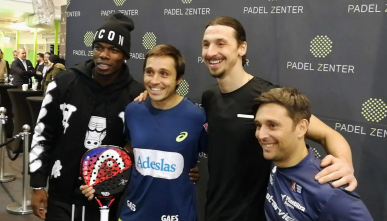 Ibrahimovic and Pogba give padel a go in Sweden