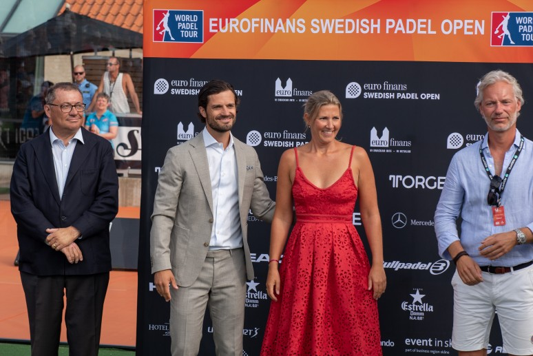 The royal moment of the Swedish Padel Open 2018