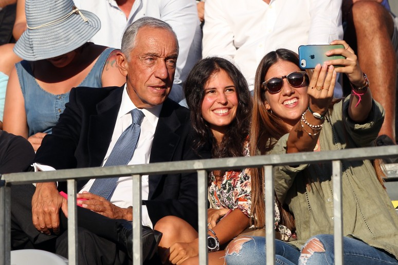 The president of Portugal, Marcelo Rebelo, admits to being a fan of the World Padel Tour