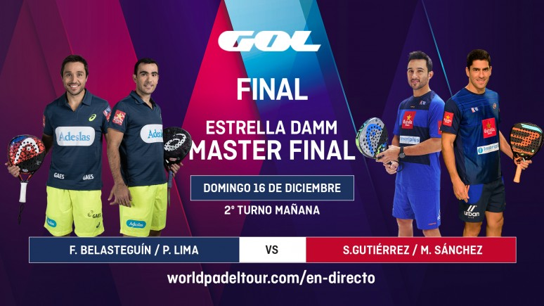 Watch the finals of the Estrella Damm Master Final live from 10.30