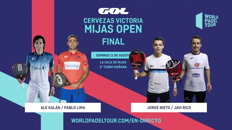 Follow Live The Finals Of The Cervezas Victoria Mijas Open From 10 00 World Padel Tour