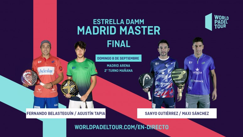 Follow live the finals of the Estrella Damm Madrid Master from 10.00