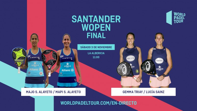 Follow live this Sunday from 11:00 the final of the Santander WOpen
