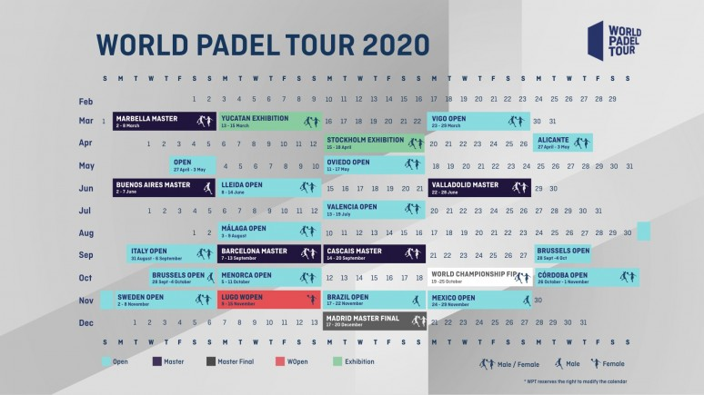 World Padel Tour shows its roadmap for the 2020 season
