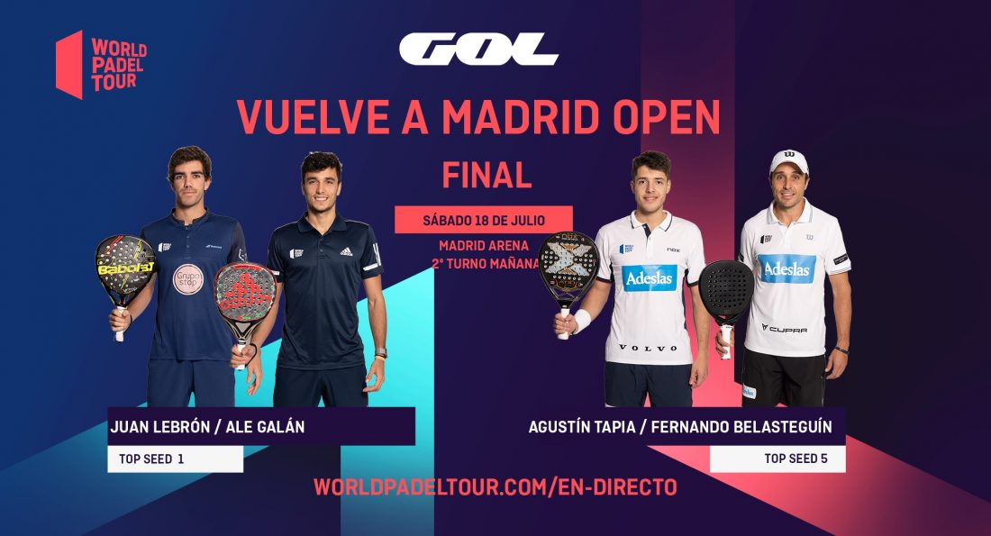 Follow live in English the finals of the Vuelve a Madrid Open 2020
