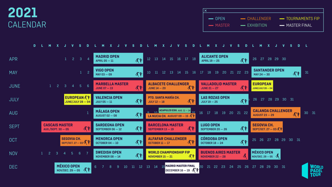 The 2021 calendar in World Padel Tour is out!