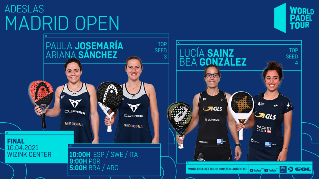Enjoy this Sunday in English the finals of the Adeslas Madrid Open!