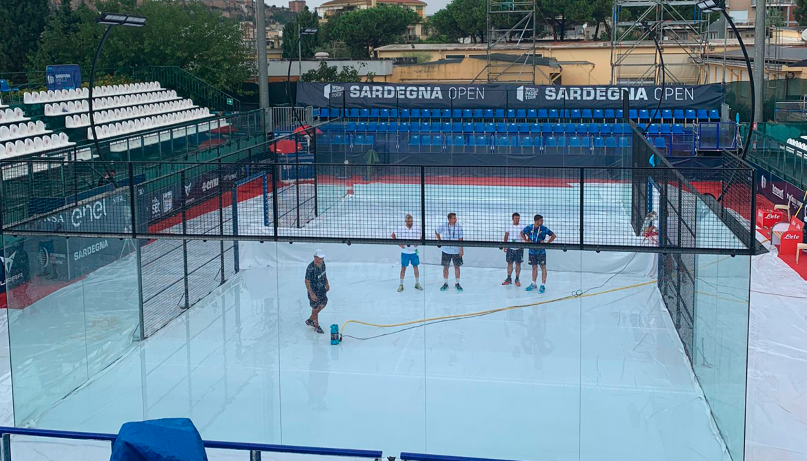 The quarterfinal day in Sardegna is suspended due to rain